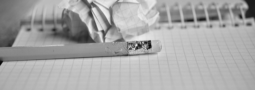 How to write a CV: chewed pencil with a piece of paper